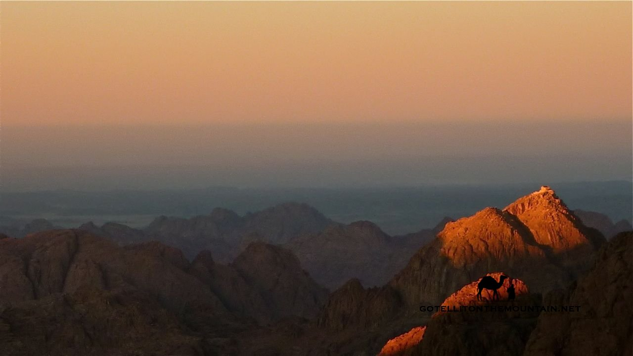 The view from high atop Mount Sinai.